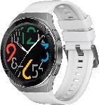 Media Markt HUAWEI  Huawei Watch GT 2e (Hector B19P) Smartwatch Metall, Kunststoff, Fluorelastomer/Thermoplastisches Polyurethan, 140-210 mm, Icy White