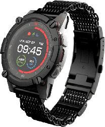 MATRIX  PowerWatch Series 2 Luxe Smartwatch Aluminium, Edelstahl, Einheitsgröße, Schwarz