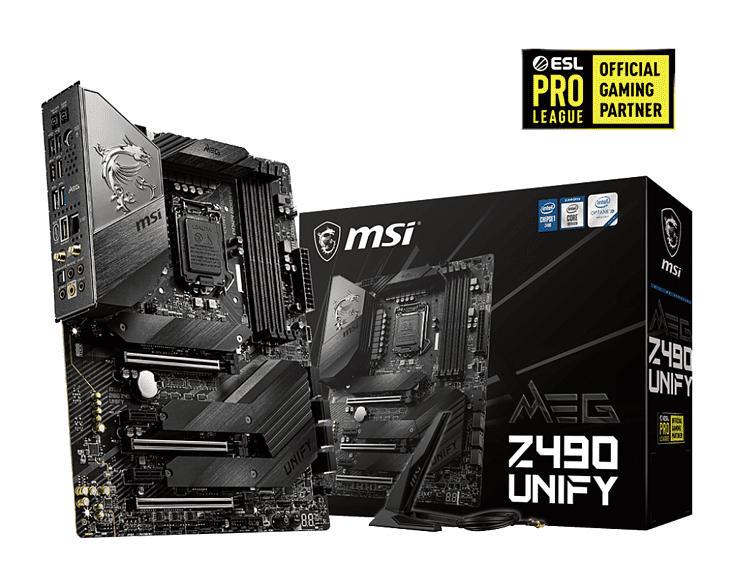 MSI MEG Z490 UNIFY Mainboard Schwarz