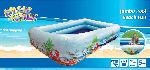 MediaMarkt VEDES Beach-Fun Jumbo Pool, 254x160x48cm Kinderplanschbecken, Blau