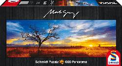 SCHMIDT SPIELE (UE) Desert Oak at Sunset - Northern Territory, Australia Puzzle, Mehrfarbig
