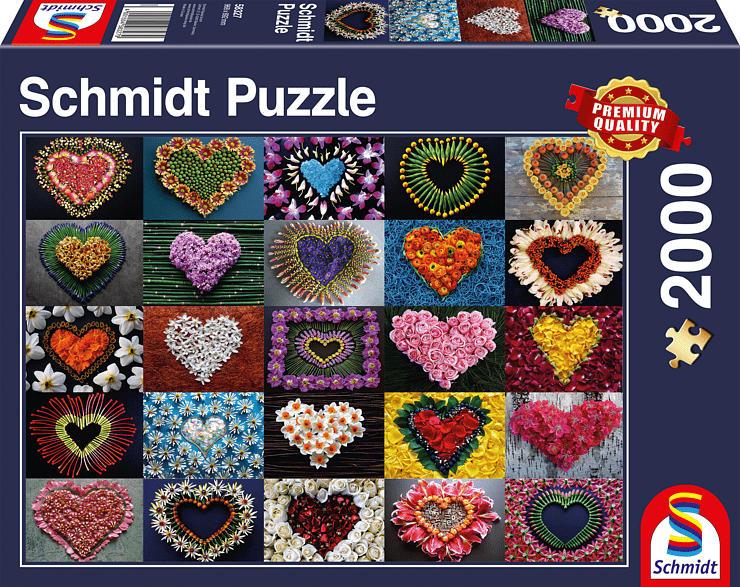 SCHMIDT SPIELE (UE) Herzen für Madalene 2.000 Teile Puzzle, Mehrfarbig