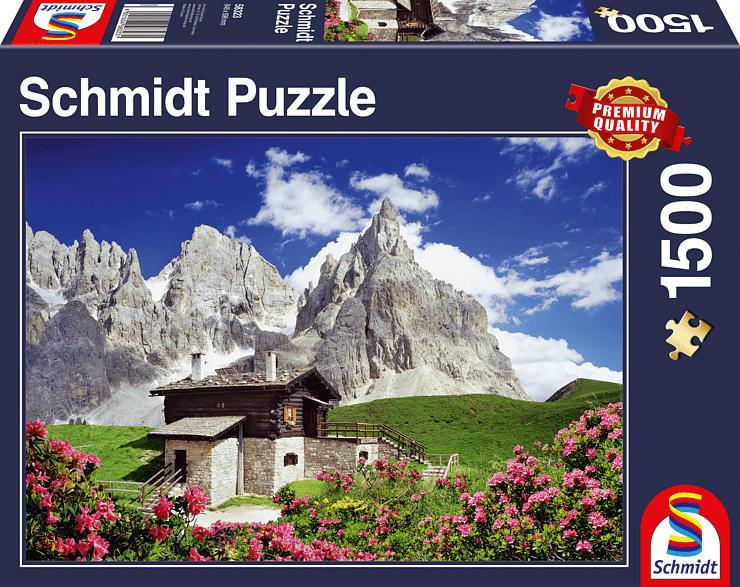 SCHMIDT SPIELE (UE) Segantinihütte, Dolomiten Puzzle, Mehrfarbig