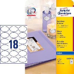 AVERY ZWECKFORM C6079-10 Hochglanz-Etiketten 63,5 x 42,3 mm 63,5 x 42,3 mm A4  180 Etiketten / 10 Bogen