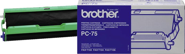 BROTHER Original Thermotransferrolle Schwarz (PC 75)