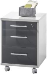 Rollcontainer Office Lux B: 40 cm Hellgrau