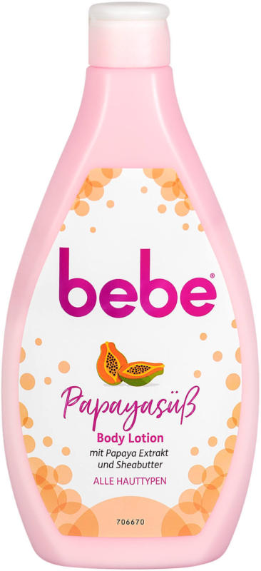 bebe Papayasüß Body Lotion mit Papaya-Extrakt & Sheabutter