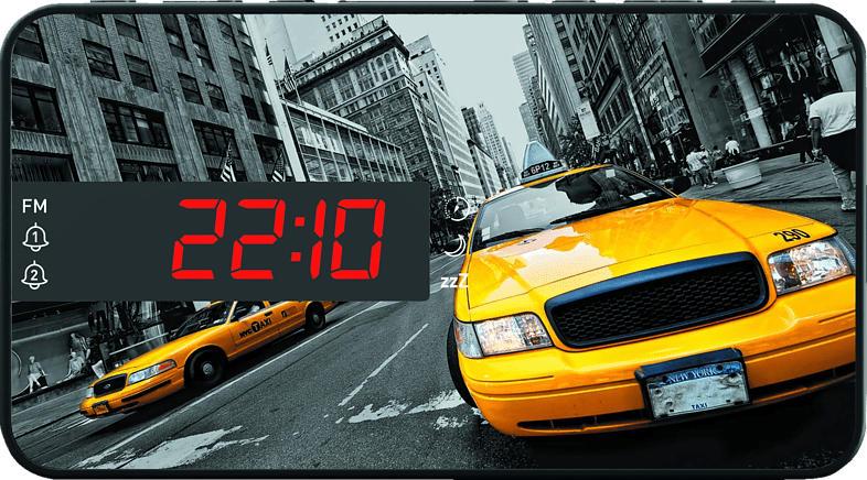 BIGBEN RR15 - New York Taxi Radio-Wecker (Mehrfarbig)