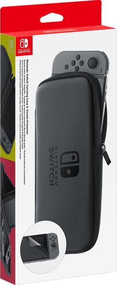 NINTENDO Switch Tasche + Schutzfolie, Grau