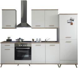 Küchenblock in Weiss/Eiche inklusive E-Geräte 'Retro'