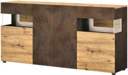Sideboard Boba, Dekor Eiche Artisan/Rost -