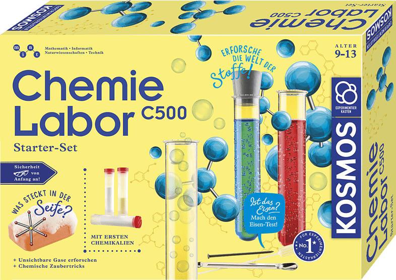 KOSMOS 642136 Chemielabor C 500 Experimentierkasten, Mehrfarbig