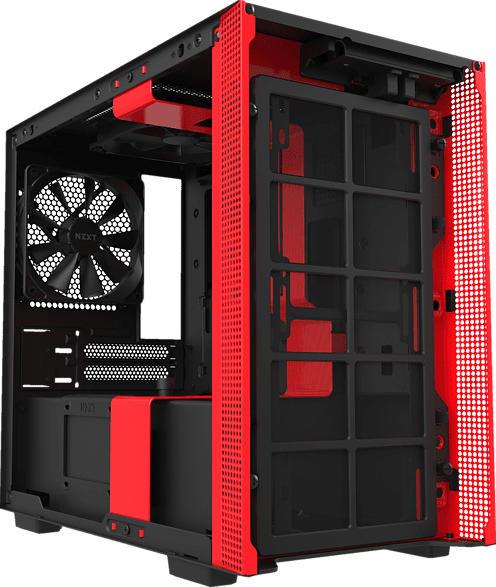 NZXT H210i Mini-ITX PC Gehäuse, Schwarz/ Rot