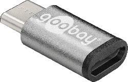 GOOBAY USB-C 3.1 auf USB 2.0 Micro B Adapter, Grau