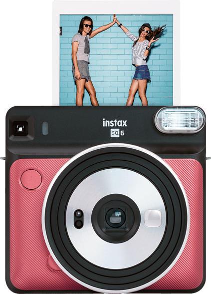 FUJIFILM instax SQUARE SQ6 Travel Set Sofortbildkamera, Ruby Red