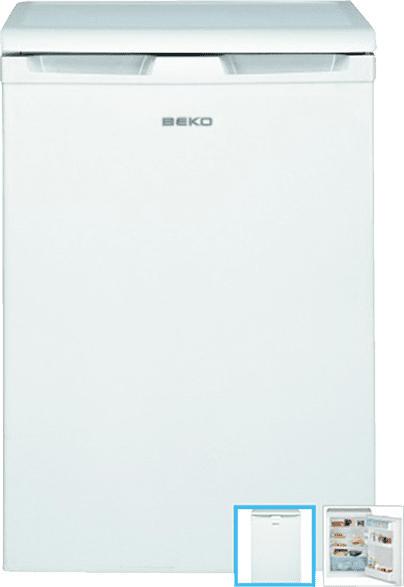 BEKO TSE 1423 Kühlschrank (92 kWh/Jahr, A++, 840 mm hoch, Weiß)
