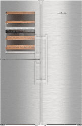 LIEBHERR SBSES 8496-20  Side-by-Side (90 kWh/Jahr, A+++, 1850 mm hoch, Silber)