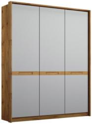 Drehtürenschrank Rangun B: 136 cm Grau