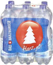 Bad Harzburger Urquell Classic, Medium oder Naturell jede 6 x 1-Liter-Packung