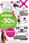 mömax Fulda - 30 % bei Kauf eines Möbelstücks Ihrer Wahl - bis 08.08.2020