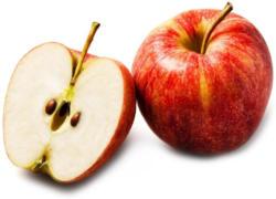 Gala Apfel gelegt