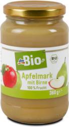 dmBio Apfelmark mit Birne