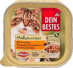 Dein Bestes Naturverliebt Nassfutter für Katzen, Huhn in Pastete