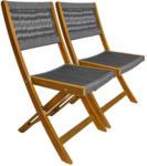 Möbelix Gartenklappsessel-Set B: 43 cm Braun/Grau