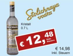 Stolichnaya Cristall Vodka