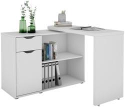 Schreibtisch mit Schwenkbarer Arbeitsplatte Turner, Weiß