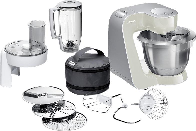 BOSCH MUM58L20 CreationLine Küchenmaschine Mineral Grey/Silber 1000 Watt