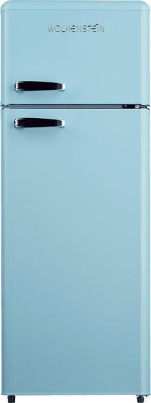 WOLKENSTEIN GK212.4RT LB  Kühlgefrierkombination (A++, 170 kWh/Jahr, 1456 mm hoch, Blau)