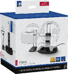 SPEEDLINK VREADY 4-In-1 PS4-Controller-Ladestation und -Halterung, Schwarz/ Weiß