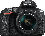 MediaMarkt NIKON D5600 Kit Spiegelreflexkamera, 24.2 Megapixel, Full HD, 18-55 mm Objektiv (AF-P, DX, VR), Touchscreen Display, WLAN, Schwarz