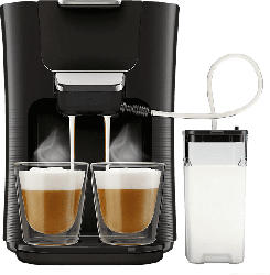 PHILIPS SENSEO® HD6570/60 Latte Duo Padmaschine (Klavierlackschwarz)