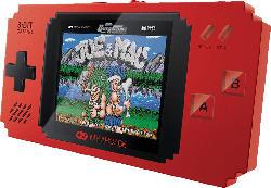 MYARCADE Pixel Player - Handheld Konsole (300 Spiele) , Spielekonsole, Schwarz/Rot