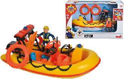 SIMBA TOYS Feuerwehrmann Sam Neptune Boot Spielzeugbot, Mehrfarbig