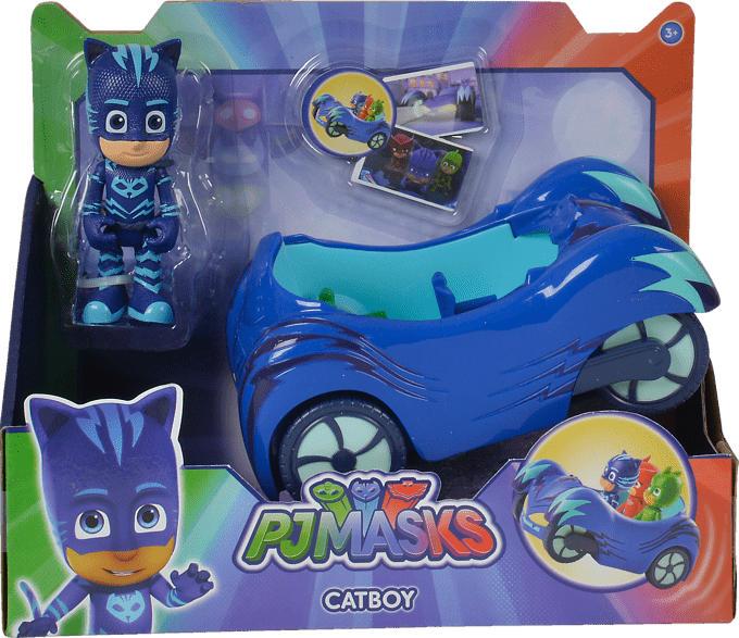 SIMBA TOYS PJ Masks Cat Boy mit Fahrzeug Spielset, Mehrfarbig