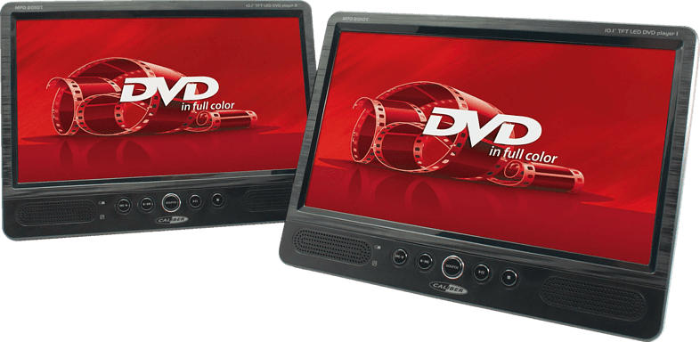 CALIBER MPD2010T Tragbarer DVD-Player, Schwarz