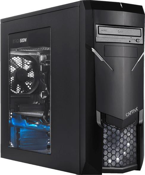 CAPTIVA I49-641, Gaming PC mit Core™ i7 Prozessor, 16 GB RAM, 240 GB SSD, 1 TB HDD, GeForce® GTX 1660, 6 GB