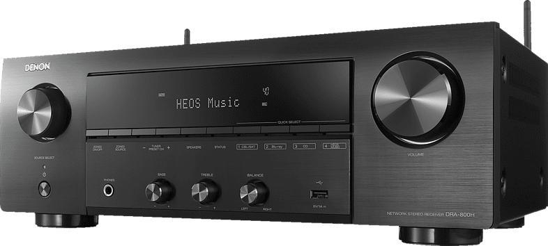DENON DRA-800H Stereo Netzwerk Receiver (2 Kanäle, Schwarz)