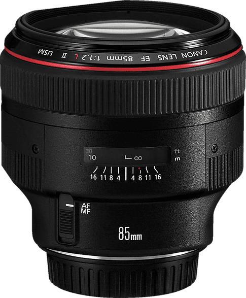 CANON EF L 85 mm f/1.2 L-Reihe, EF, USM (Objektiv für Canon EF-Mount, Schwarz)