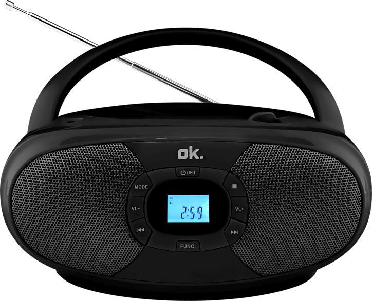 OK. ORC 131-BK STEREO CD Player (Schwarz)