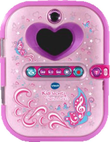 VTECH Kidisecrets Selfie Music elektronisches Tagebuch, Rosa