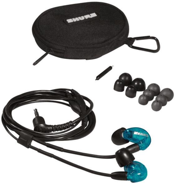 SHURE SE215SPE-B-EFS, In-ear Kopfhörer  Blau/Schwarz