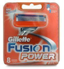 Gillette Lametta da barba Fusion Power 8 pezzi -