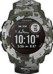 GARMIN  Instinct Solar Smartwatch Faserverstärktes Polymer, Silikon, 132 - 224 mm (45 x 45 x 15.3 mm), Grün Camo