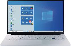 SAMSUNG Galaxy Book Ion, Notebook mit 15.6 Zoll Display, Core™ i5 Prozessor, 8 GB RAM, 256 GB SSD, Intel UHD Grafik, Aura Silver