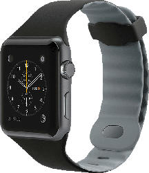 BELKIN Silikonband, Uhrenarmband, Apple, Apple Watch 42mm, Schwarz/Grau