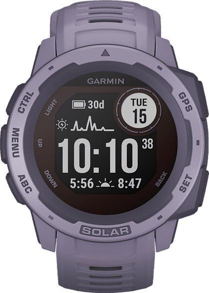 GARMIN  Instinct Solar Smartwatch Faserverstärktes Polymer, Silikon, 132 - 224 mm (45 x 45 x 15.3 mm), Rosa